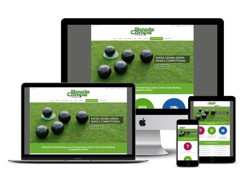 bowlscomps website design