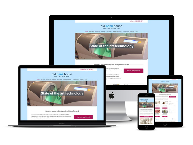 old bank house dentist website design Leighton Buzzard
