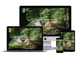 camping plage des settons website design