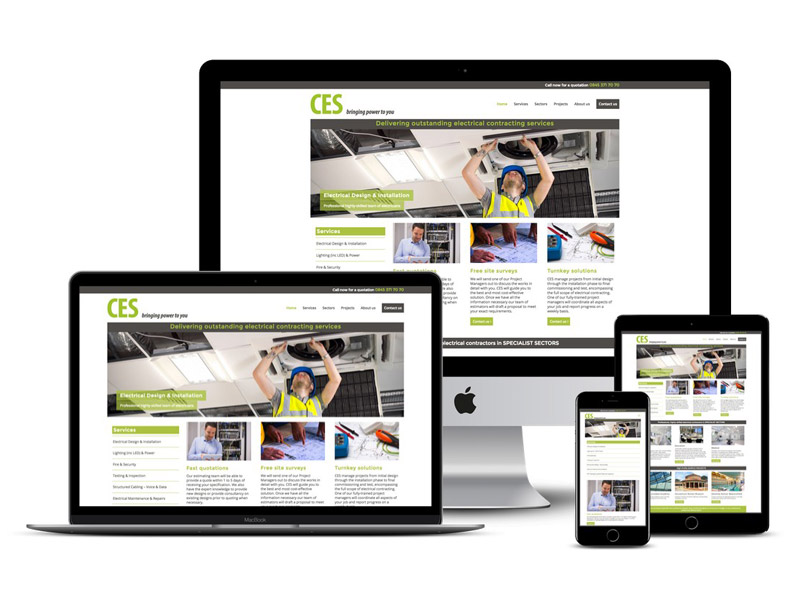 Cessta electrical St Albans website design