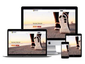runners retreat website design