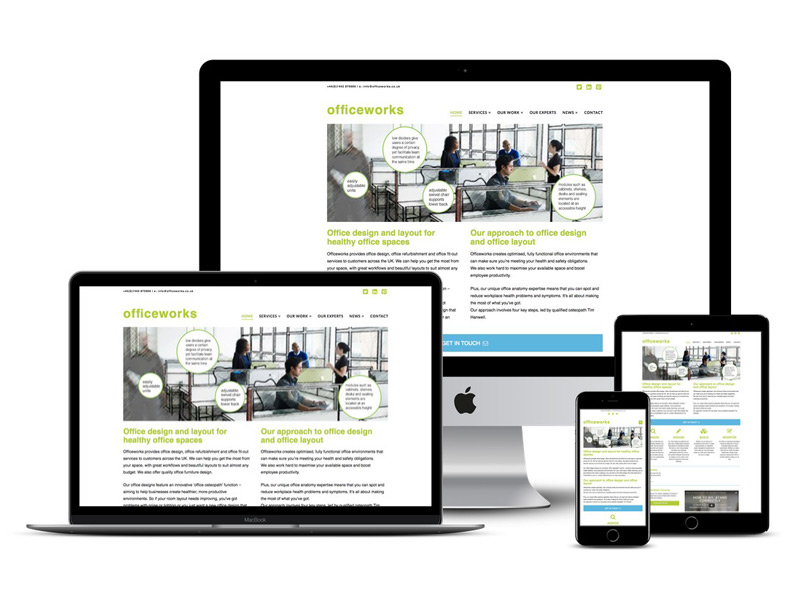 officewroks Berkhamsted website design