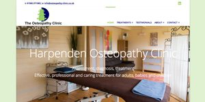 osteopath website design Harpenden