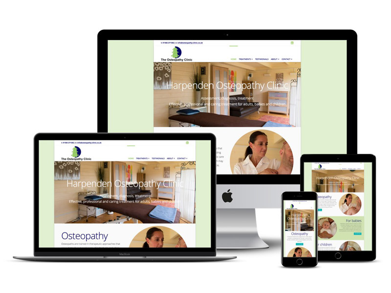 osteopathy clinic website design harpenden