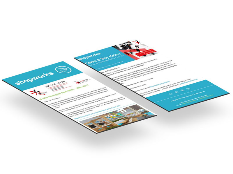 shopworks newsletter design