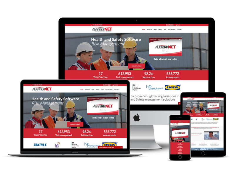 assessnet website design
