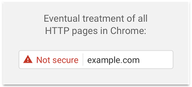eventual treatment of http pages in chrome
