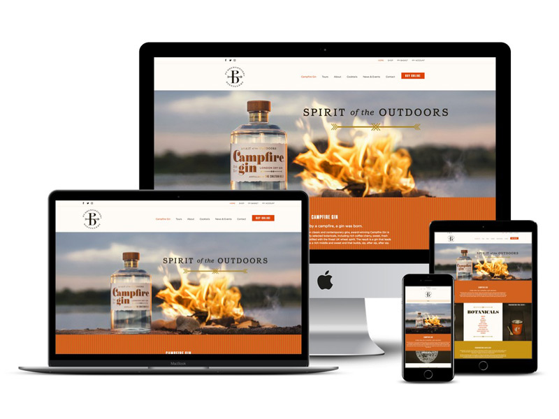 campfire gin website design