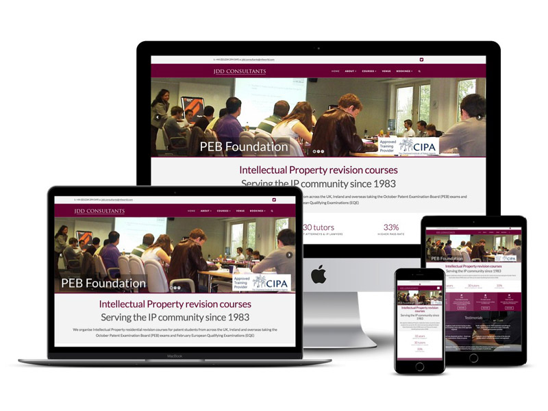 jdd courses website design bedford