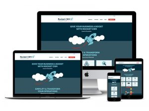 rocket crm website design