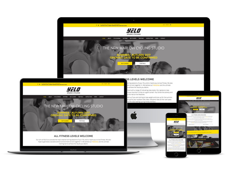 yelo studio cycling website design