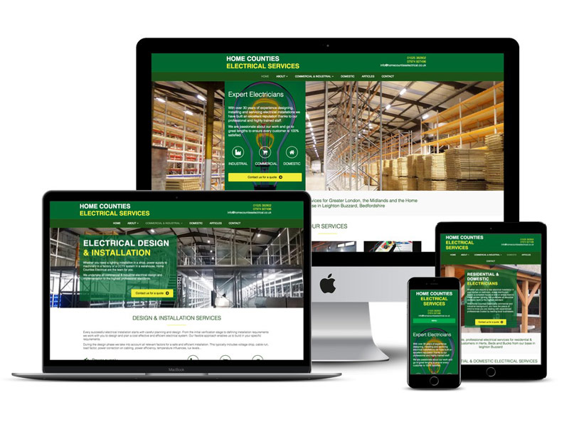 Home counties electrical website design Leighton Buzzard