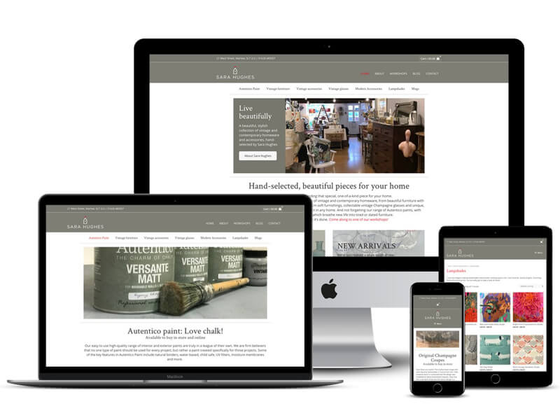 Sara Hughes website design Marlow