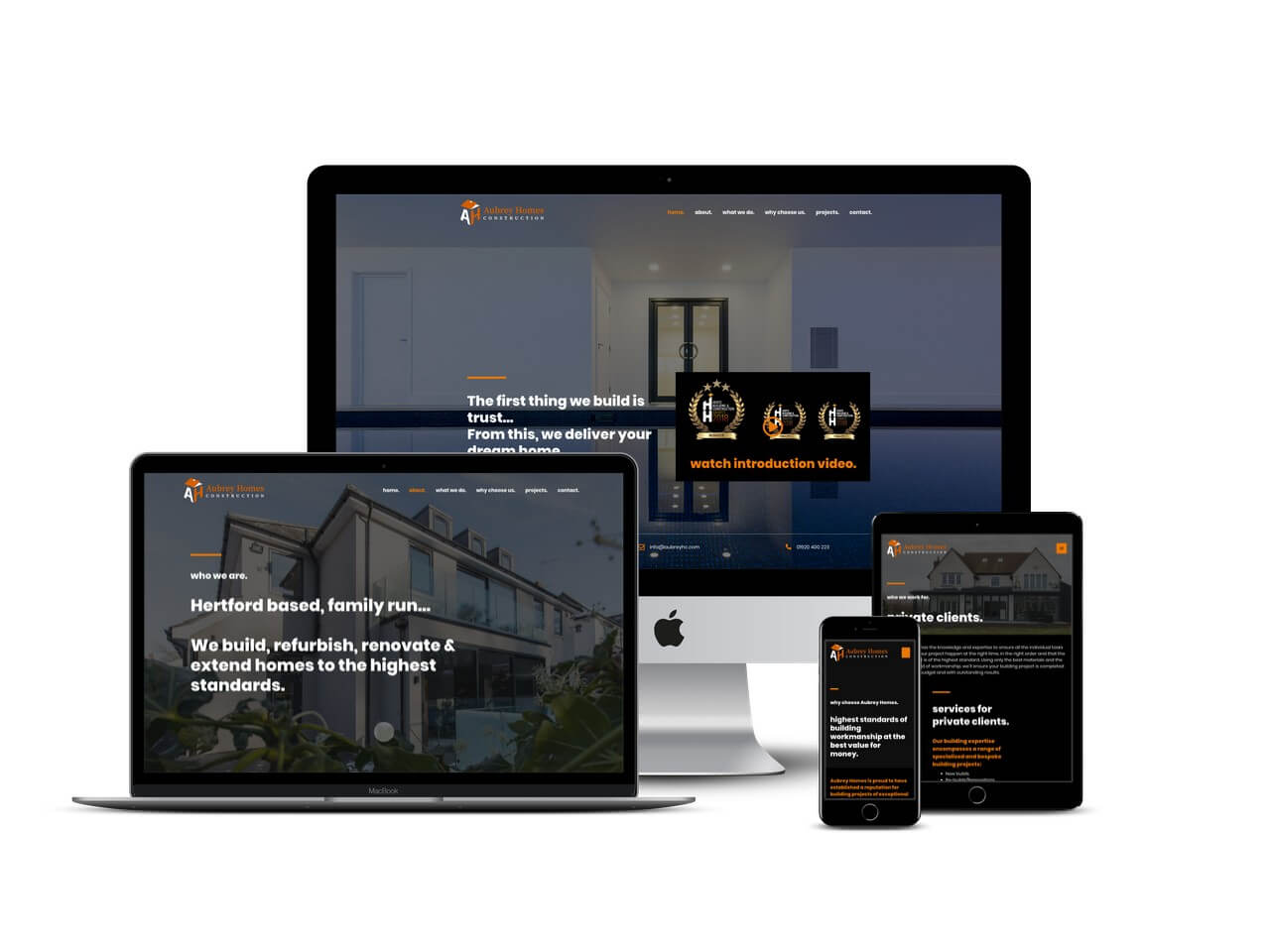 Building contractor website design | Freelance web designer