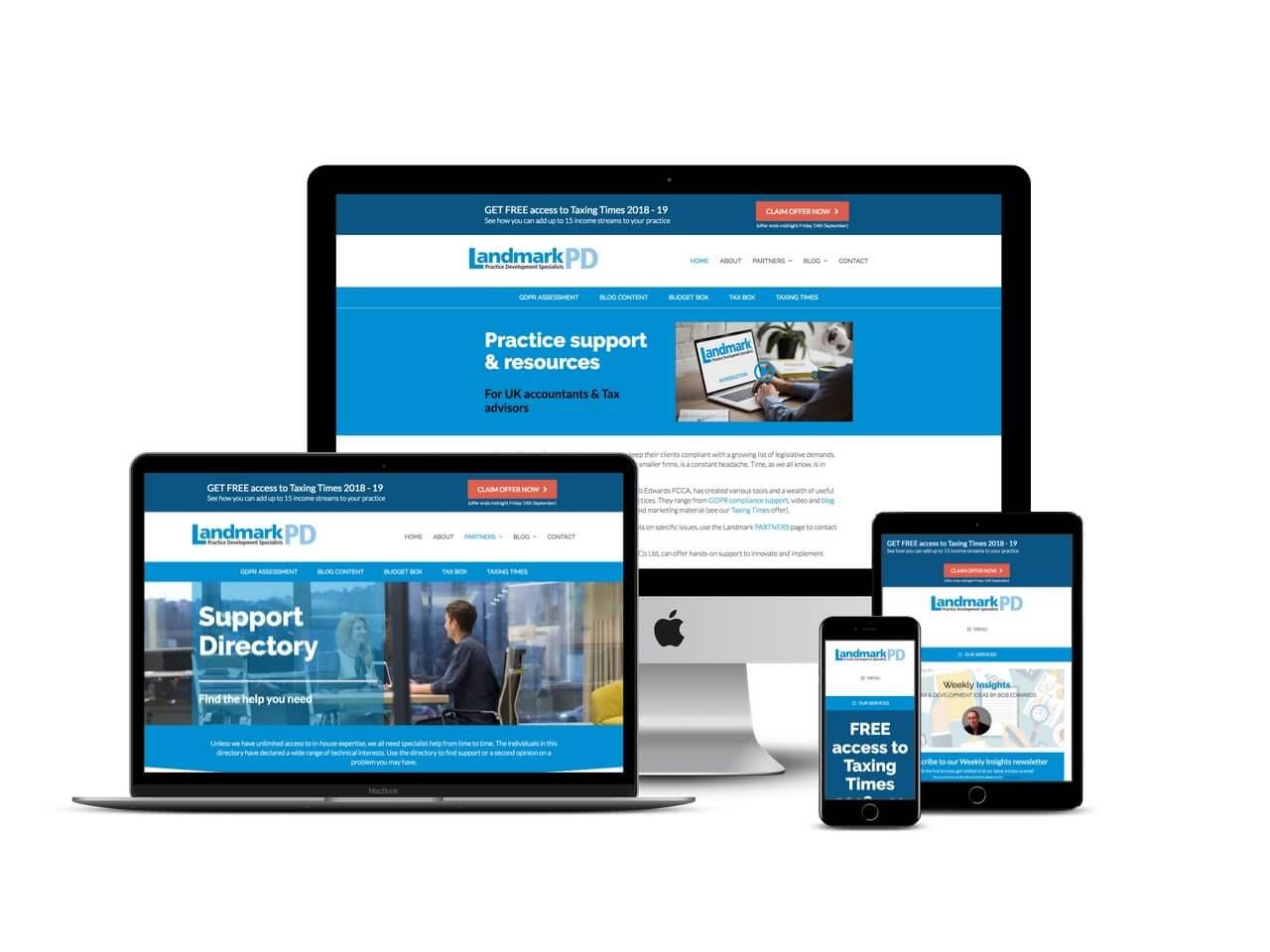 landmark website design Yorkshire