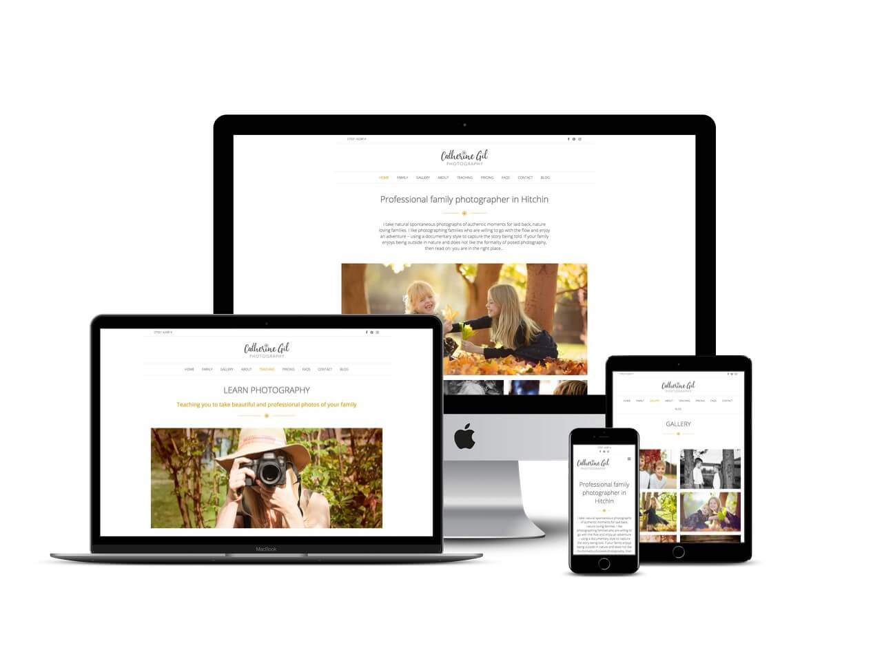Photgrapher website design Hertfordshire