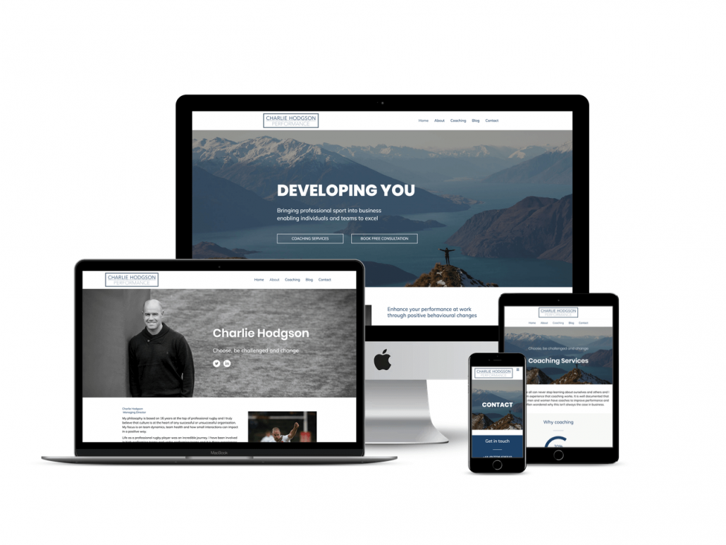 charlie hodgson website design