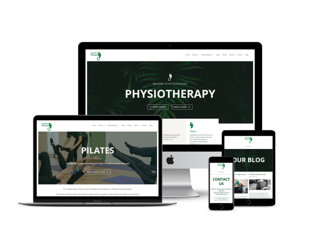 cotteslow physio website design