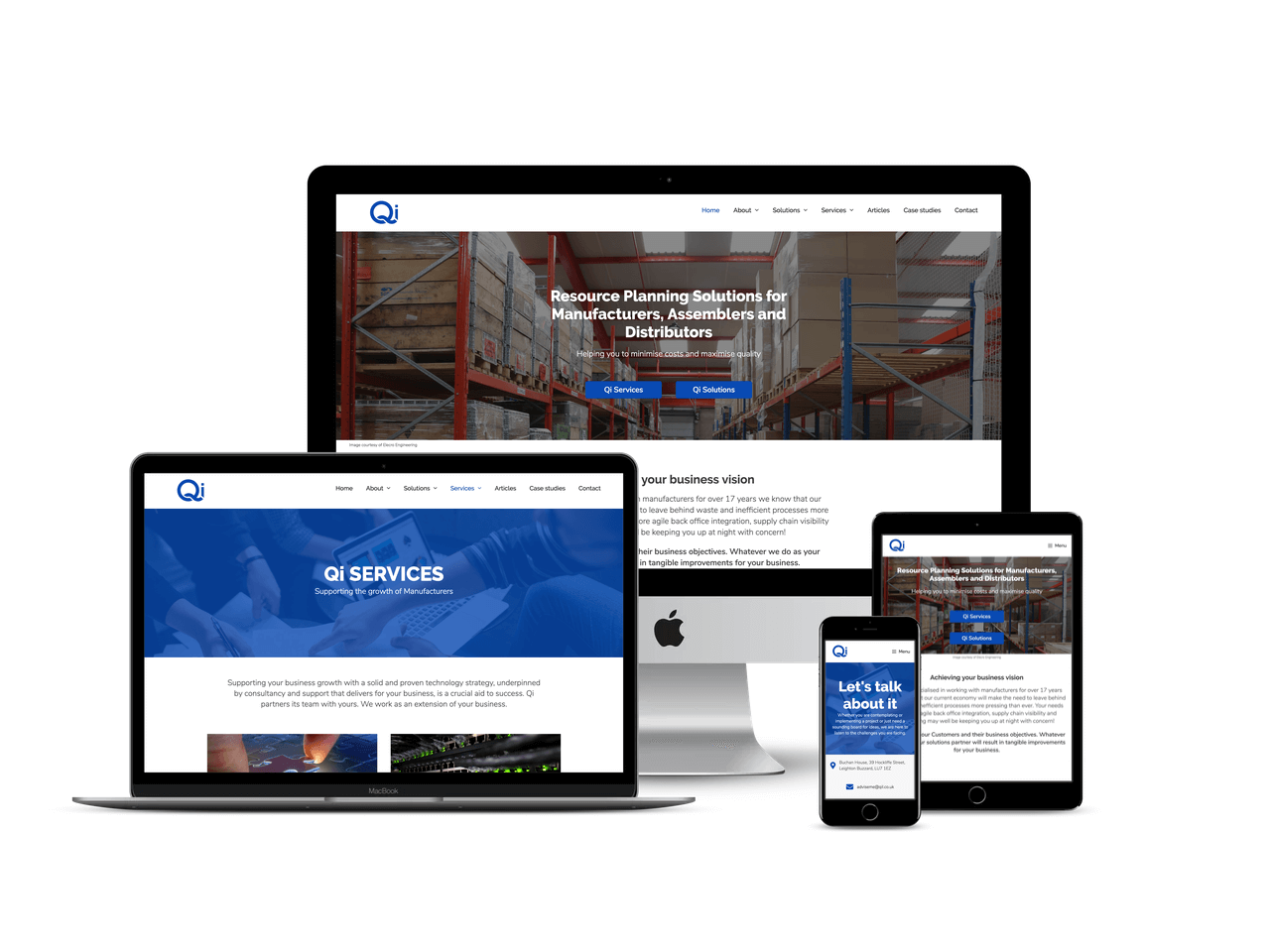 Qi Limited Leighton Buzzard website design