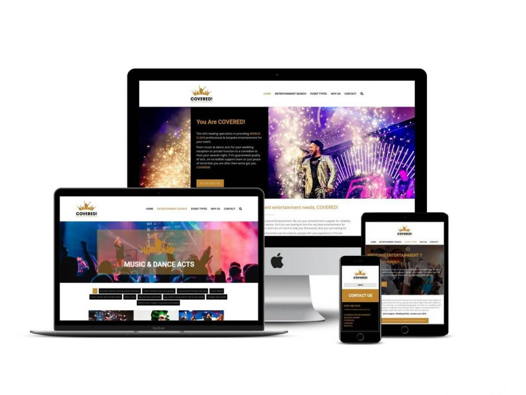 Entertainment agent website design Hertfordshire