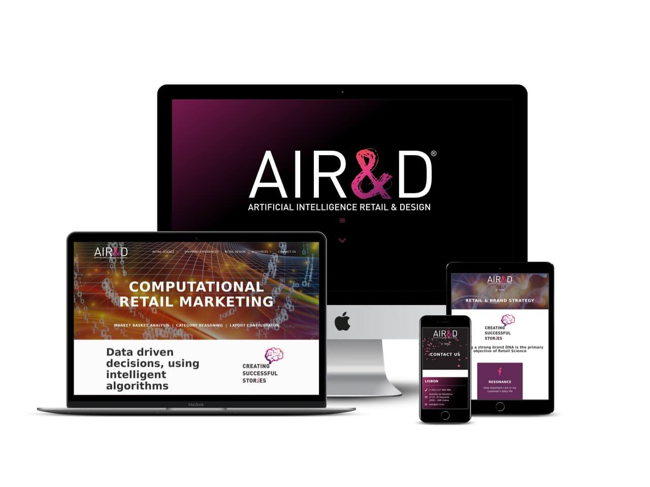 air&d retail consultancy website design Hertfordshire
