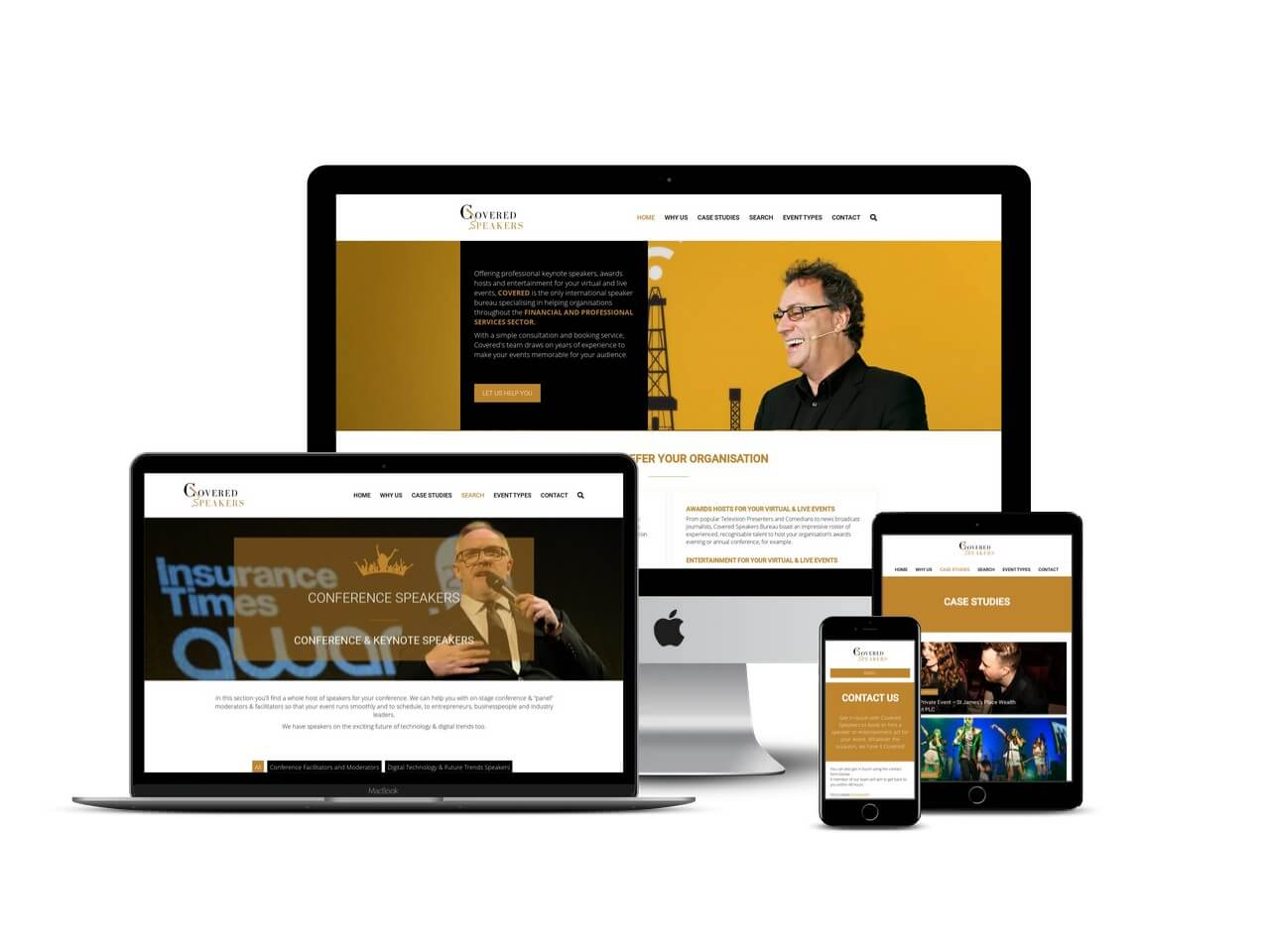 covered speakers website design