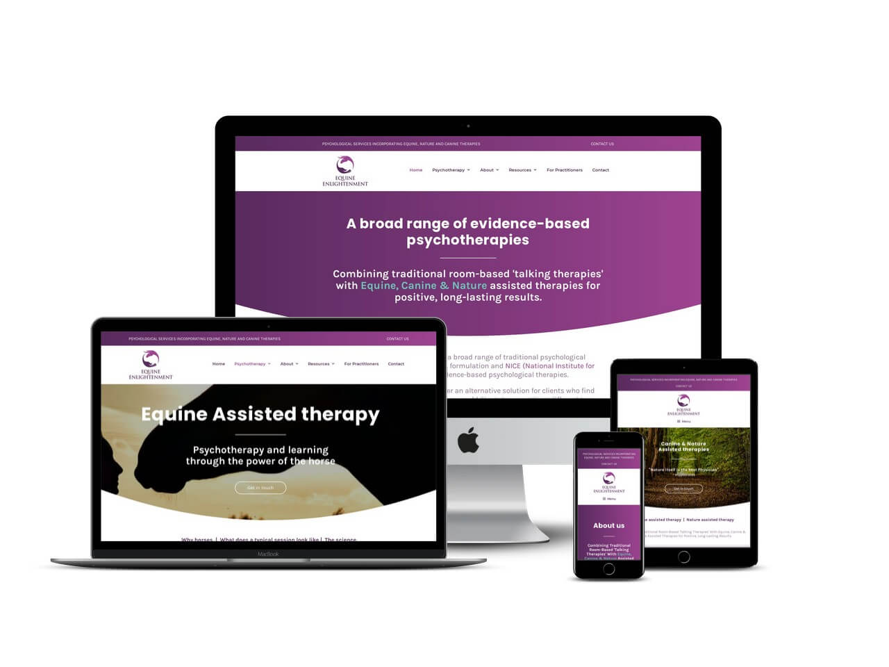 Psychotherapist website design Buckinghamshire