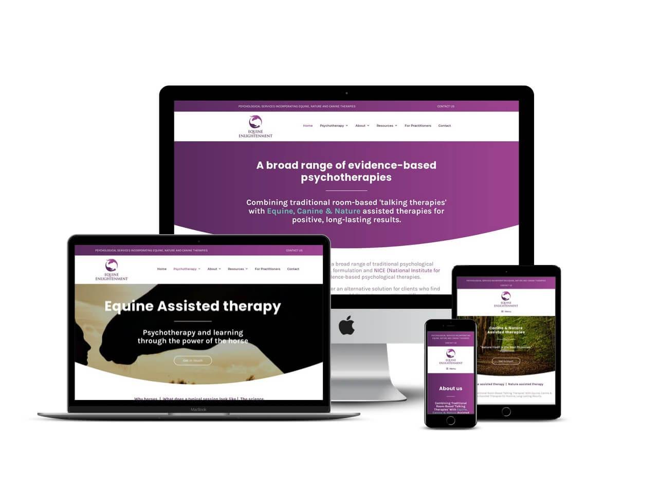 Psychotherapist website design Buckinghamshire