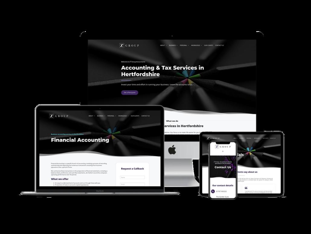 Z2 group website design hertfordshire