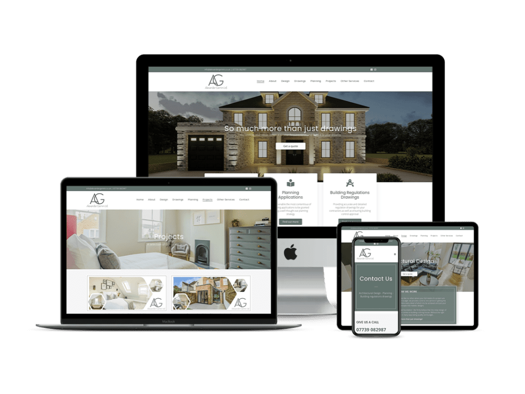 alxander gemini surveyor website design london