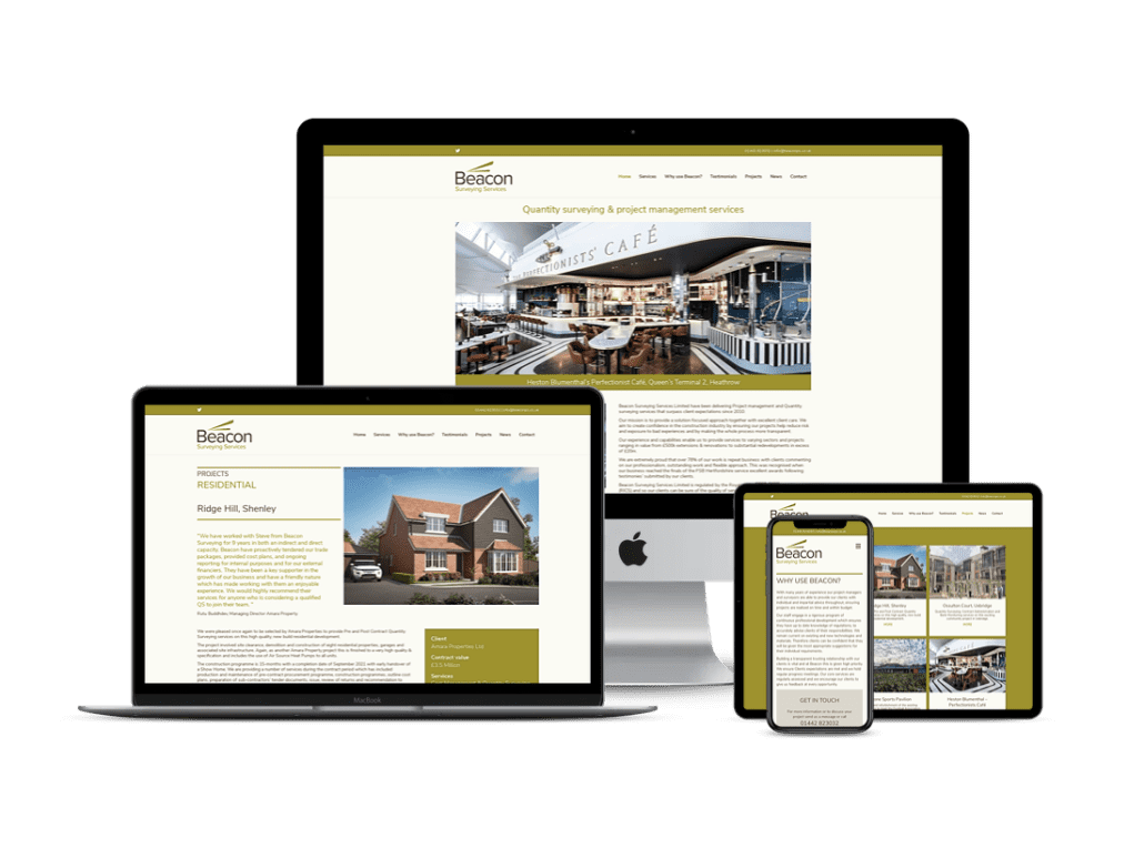 Beacon quantity surevyor website design Tring