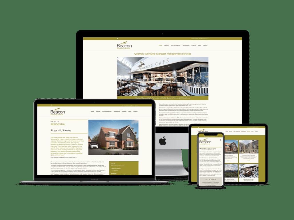 Beacon quantity surevyor website design Tring